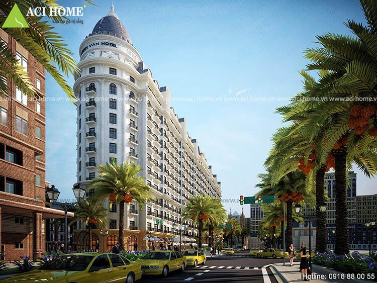 cải tạo khách sạn kiểu Pháp tại Thanh Hóa