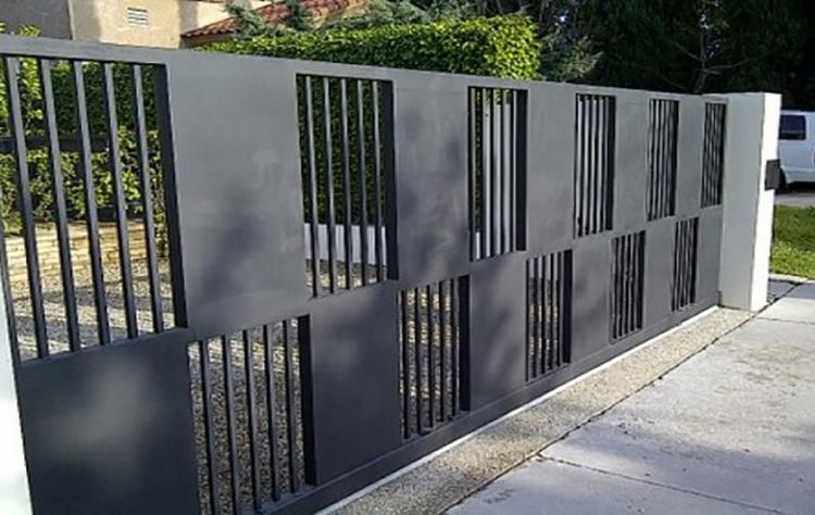 hàng rào sắt hộp