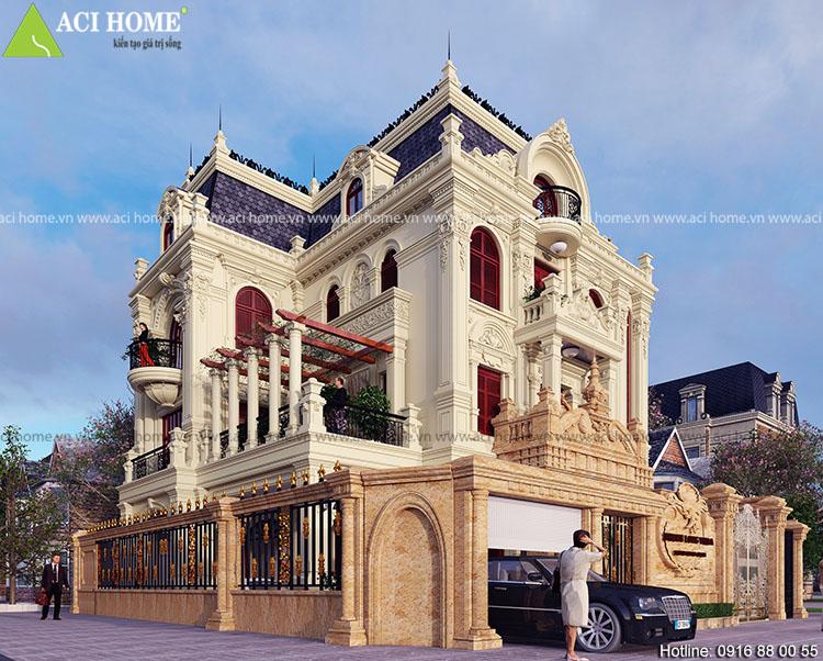 nhà biệt thự phong cách cổ điển