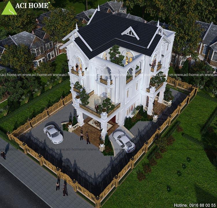 biệt thự tân cổ điển 3 tầng tại Thái Bình
