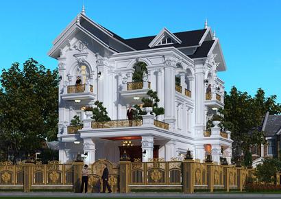 Biệt thự Pháp tân cổ tại Thái Bình