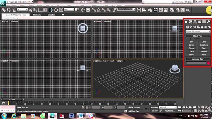 lệnh box trong 3ds Max