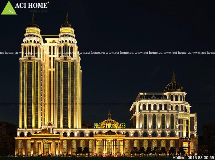 Thiết kế khách sạn kiếm trung tâm thương mại