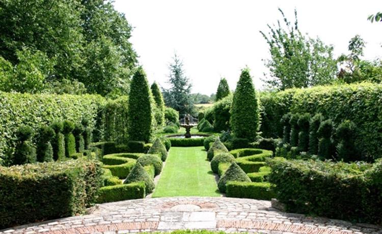 thiết kế sân vườn kiểu Pháp