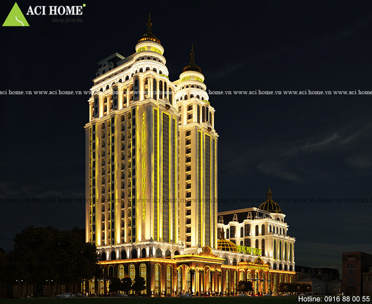 Mẫu khách sạn cổ điển Phong Phú Square