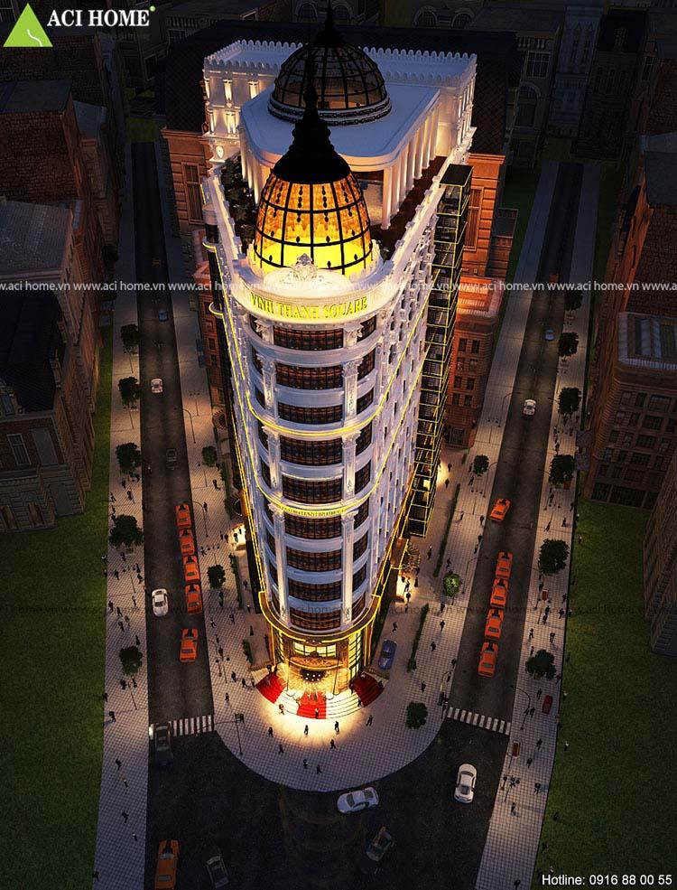 thiết kế klhách sạn Square thành Vinh