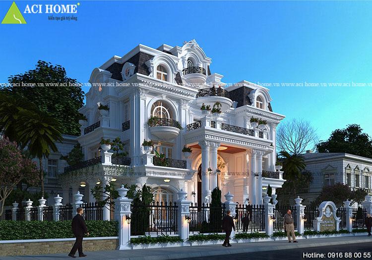 thiết kế biệt thự Pháp tại Cần Thơ