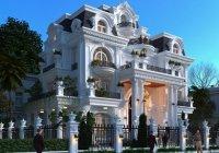 thiết kế biệt thự Pháp 3 tầng