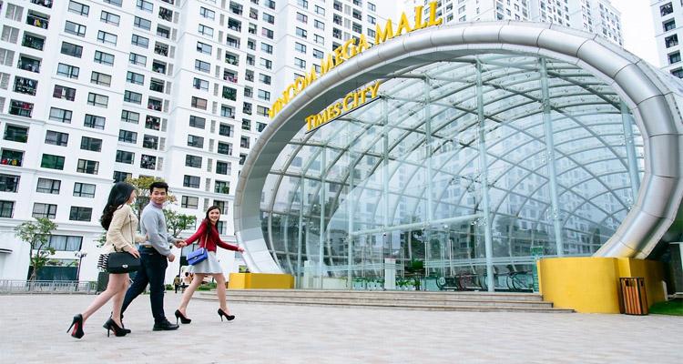 cổng vào trung tâm thương mại time city