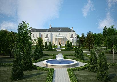 Sân vườn biệt thự Pháp Đẹp