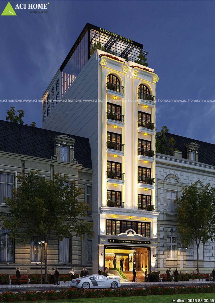 Công trình khách sạn 8m mặt tiền - Luxury Hotel