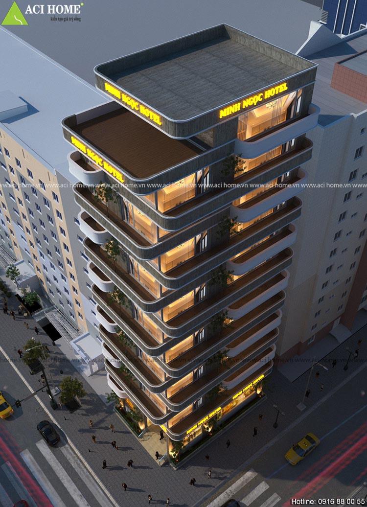 khách sạn cao 13 tầng