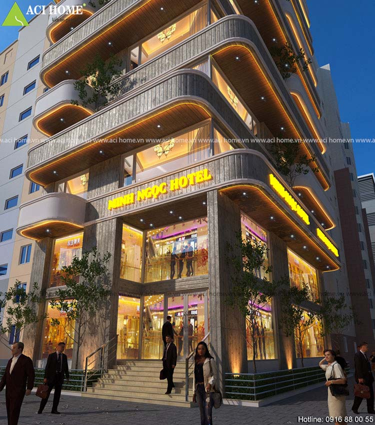 sảnh chính khách sạn 13 tầng