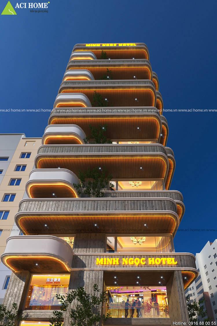 ý tưởng thiết kế khách sạn 2 mặt tiền