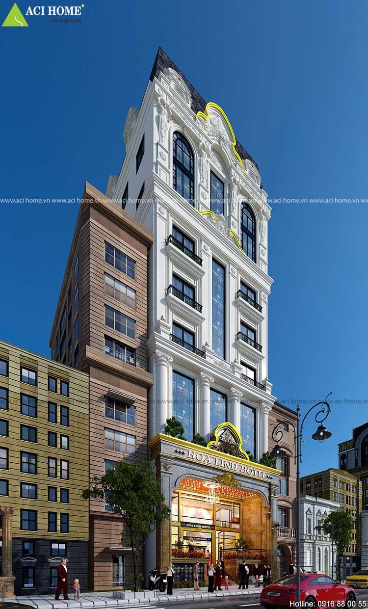 khách sạn kiến trúc cổ điển