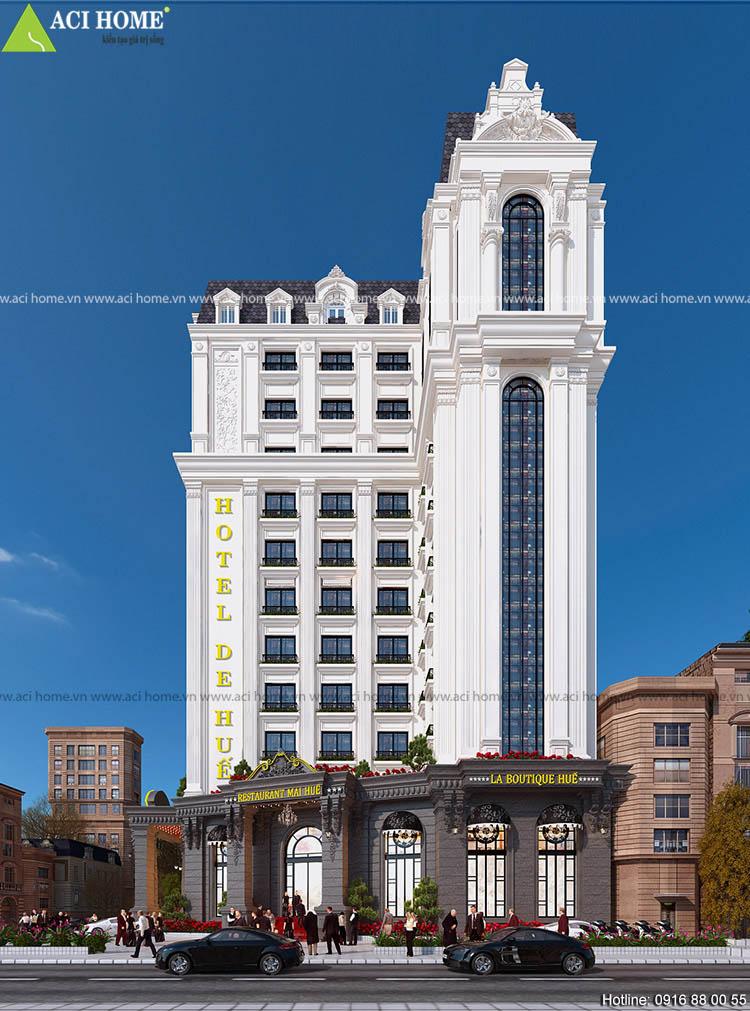 khách sạn kết hợp nhà hàng cao cấp