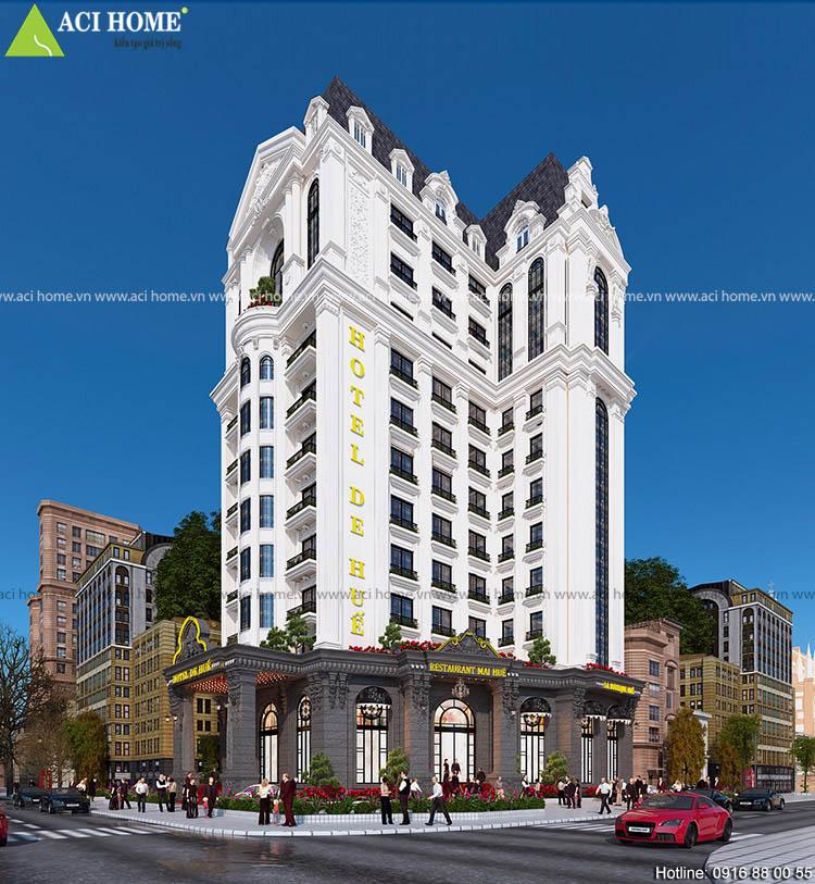 khách sạn được thiết kế kiểu Pháp