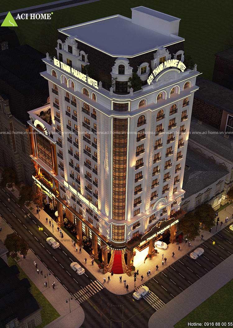 khách sạn chiều cao 15 tầng