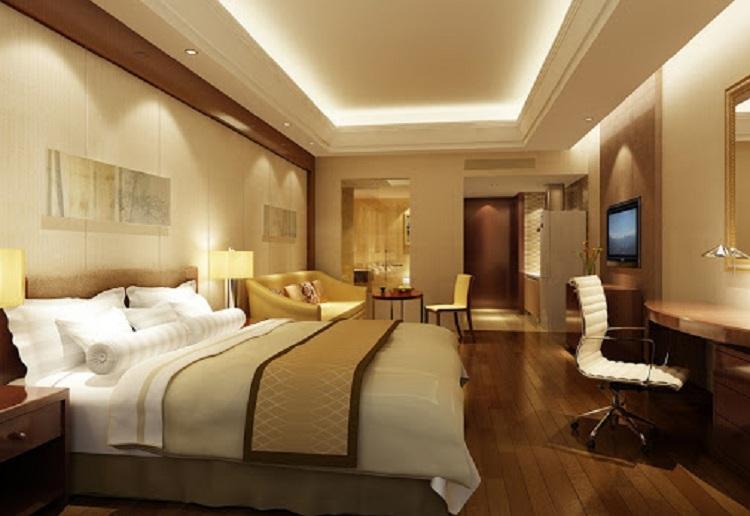 Bố trí ánh sáng tại phòng ngủ khách sạn