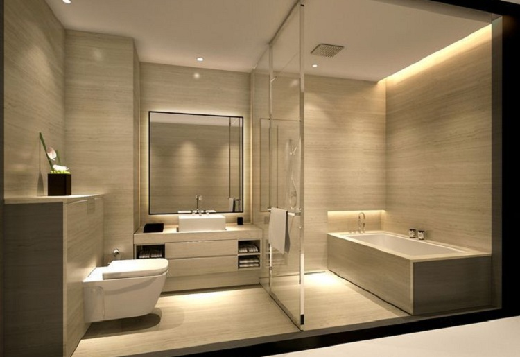 Ánh sáng tại phòng tắm khách sạn
