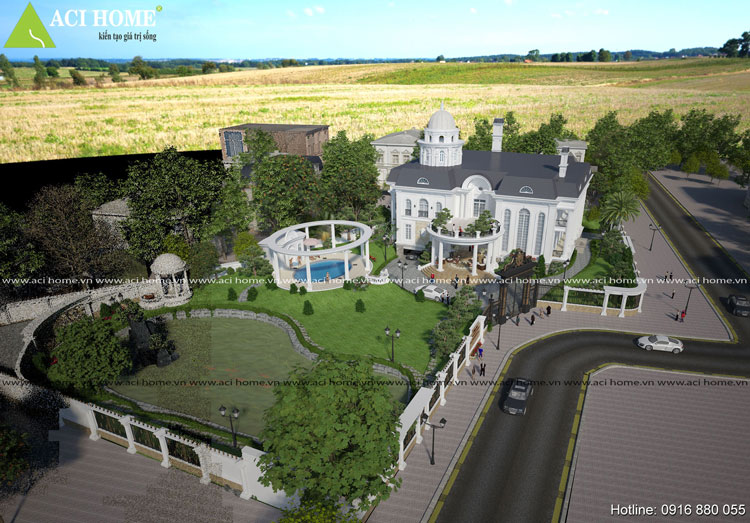 Thiết kế biệt thự vườn 2 tầng - Vẻ đẹp hoàn mỹ