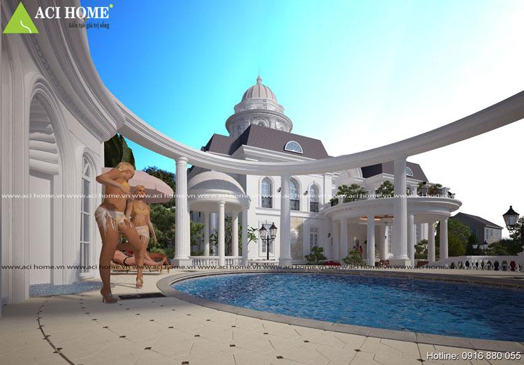 Tiện nghi trong công năng mang đến nét ấn tượng cho biệt thự vườn phong cách cổ điển