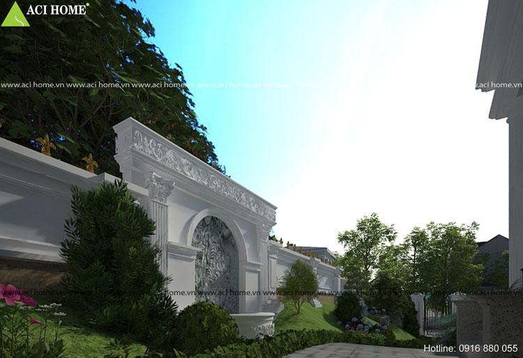 Ấn tượng về thẩm mỹ tại thiết kế biệt thự vườn