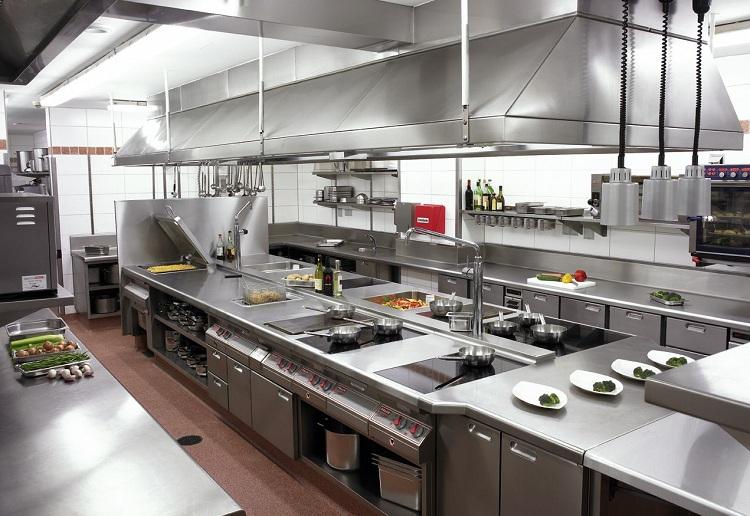 Khu vực bếp ăn tiện nghi và đảm bảo vệ sinh sạch sẽ