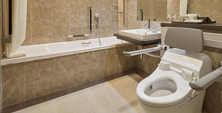 Thiết kế phòng tắm sang trọng tại khách sạn cao cấp
