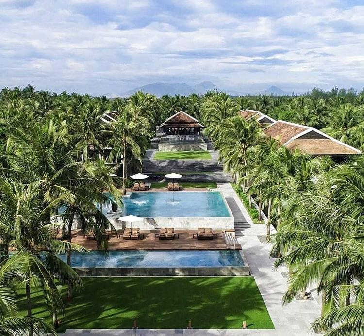 Thiết kế Resort với cảnh quan cây xanh điều hòa khí hậu