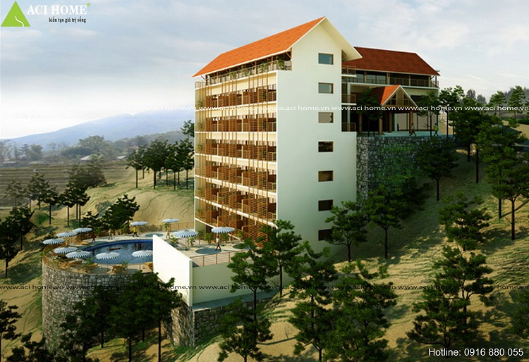Thiết kế khách sạn trên đồi cần kinh nghiệm gì?