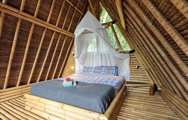 Bungalow tại Resort hoang sơ với kiến trúc tre lứa ấn tượng - nội thất