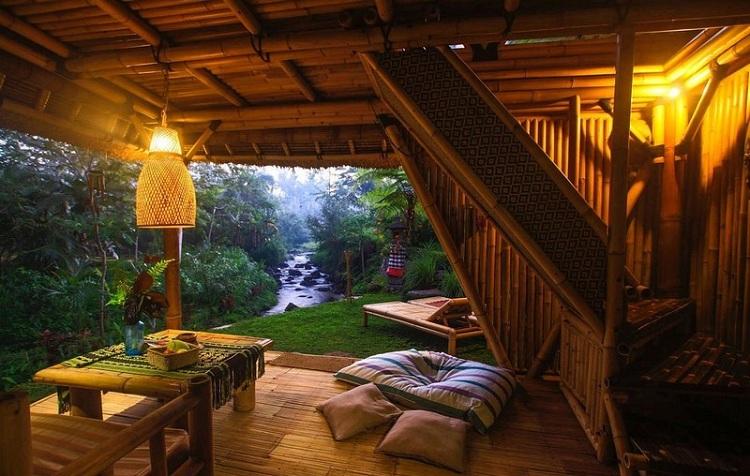 Bungalow tại Resort hoang sơ với kiến trúc tre lứa ấn tượng - thân thiện với môi trường