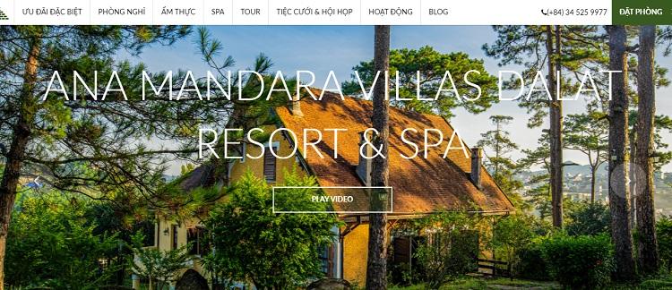 Website phục vụ các chiến dịch Marketing cho Resort